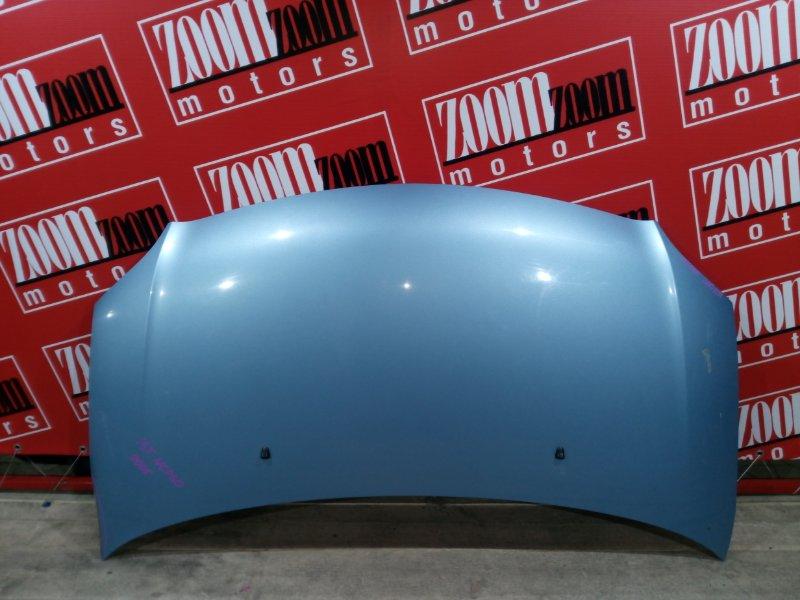 Капот Toyota Ist NCP60 2NZ-FE 2000 передний голубой