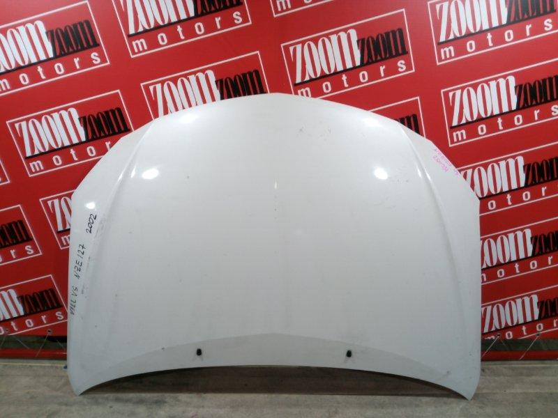 Капот Toyota Will Vs NZE127 1NZ-FE 2001 передний белый перламутр
