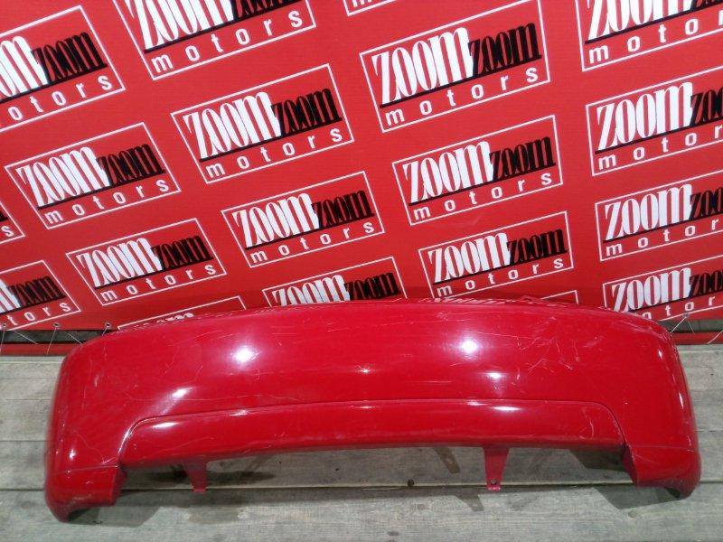 Бампер Toyota Ist NCP60 2NZ-FE 2002 задний красный