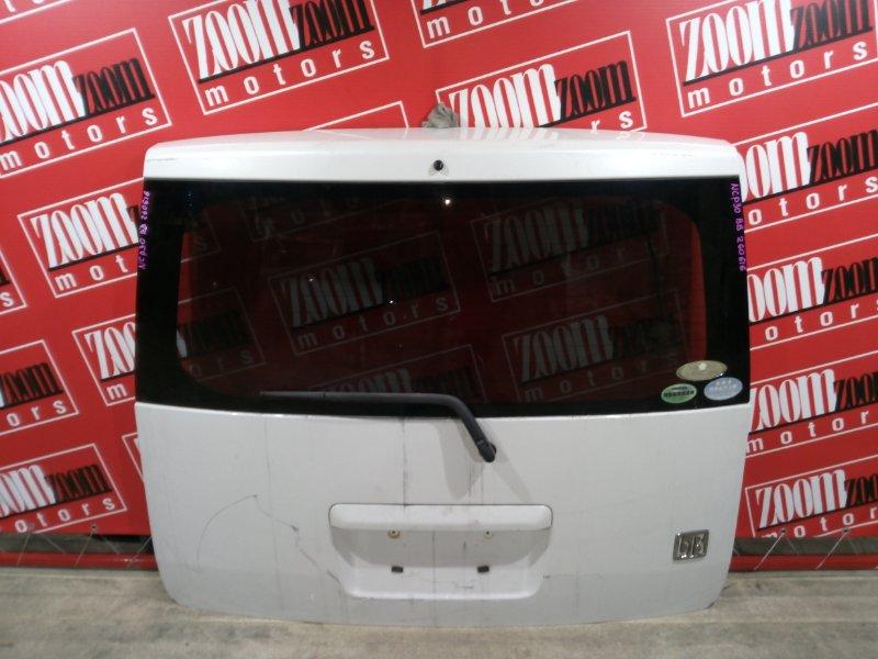 Дверь задняя багажника Toyota Bb NCP30 2NZ-FE 2000 задняя белый перламутр