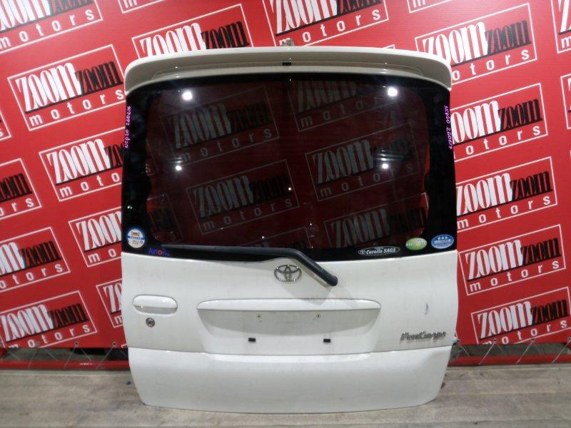 Дверь задняя багажника Toyota Funcargo NCP20 2NZ-FE 1999 задняя белый