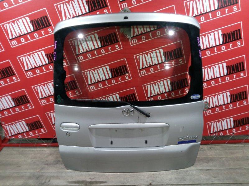 Дверь задняя багажника Toyota Funcargo NCP20 2NZ-FE 1999 задняя серебро