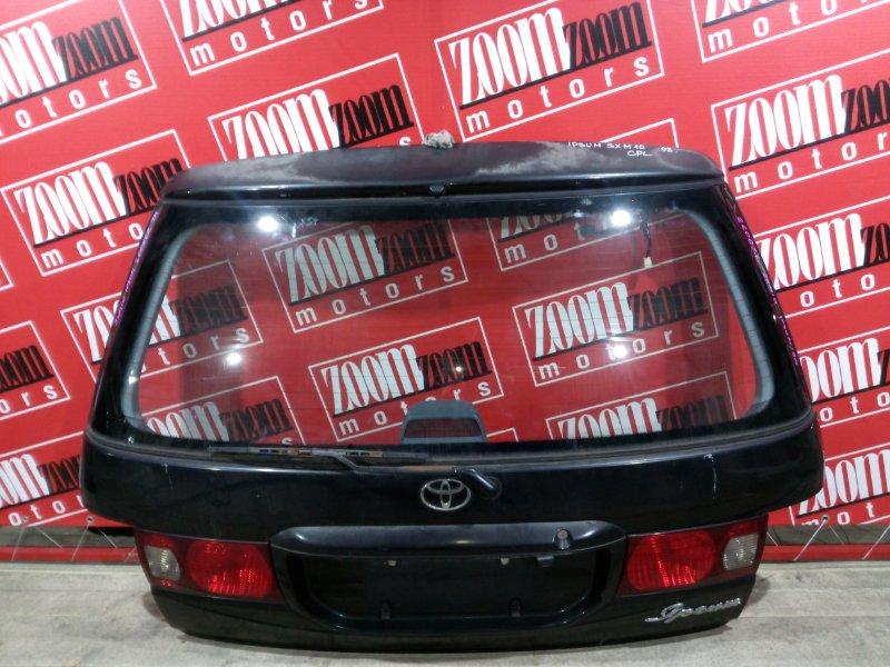 Дверь задняя багажника Toyota Ipsum SXM10 3S-FE 1996 задняя черный