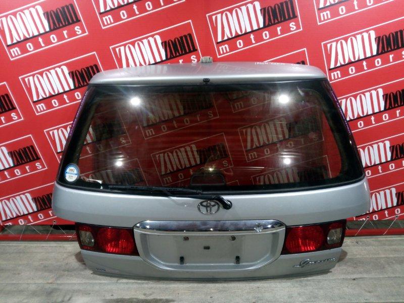 Дверь задняя багажника Toyota Ipsum SXM10 3S-FE 1996 задняя серебро