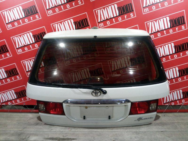 Дверь задняя багажника Toyota Ipsum SXM10 3S-FE 1996 задняя белый перламутр