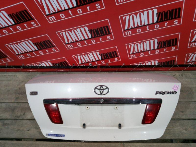 Крышка багажника Toyota Premio AZT240 1AZ-FSE 2001 задняя белый перламутр