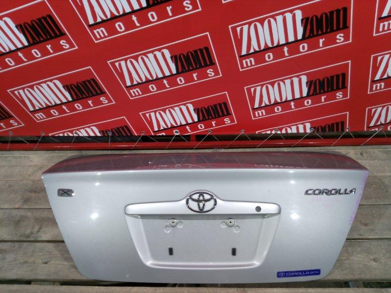 Крышка багажника Toyota Corolla NZE120 1NZ-FE 2001 задняя серебро