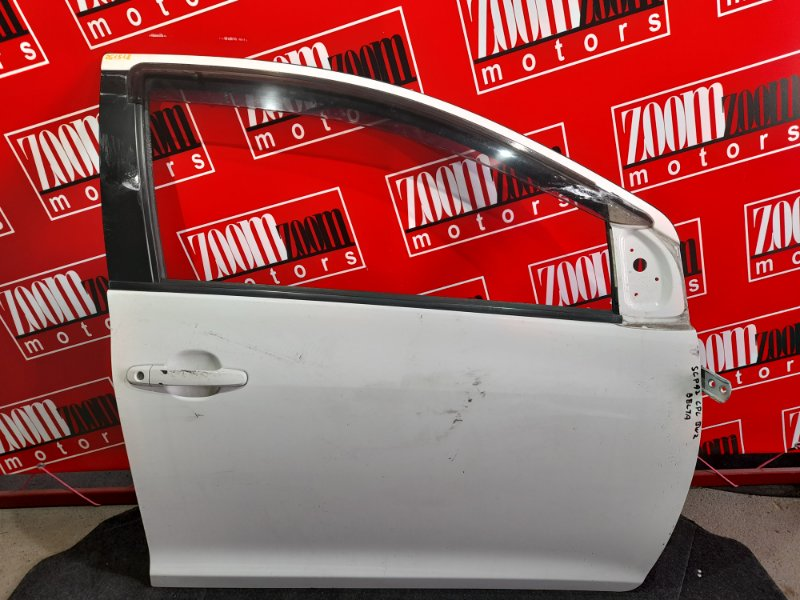 Дверь боковая Toyota Belta SCP92 2SZ-FE 2005 передняя правая белый