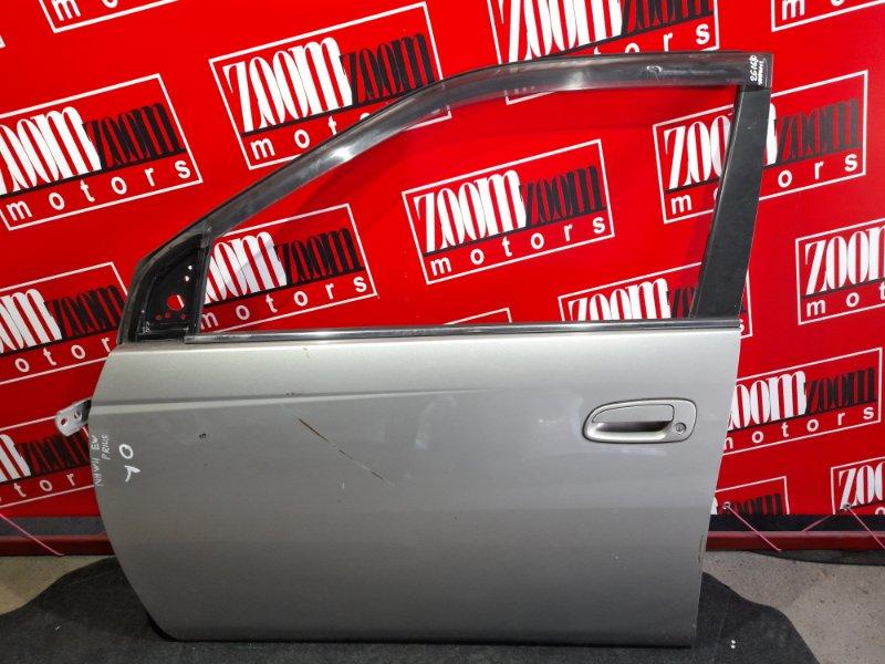Дверь боковая Toyota Prius NHW11 1NZ-FXE 2000 передняя левая серебро
