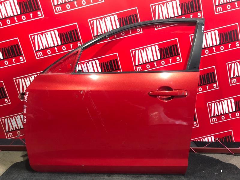 Дверь боковая Mazda Axela BKEP LF-DE 2003 передняя левая красный