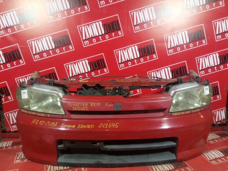 Бампер Nissan Cube AZ10 CG13DE 1998 передний красный