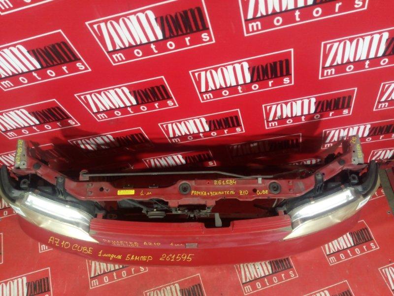 Рамка радиатора Nissan Cube AZ10 CG13DE 1998 передняя красный