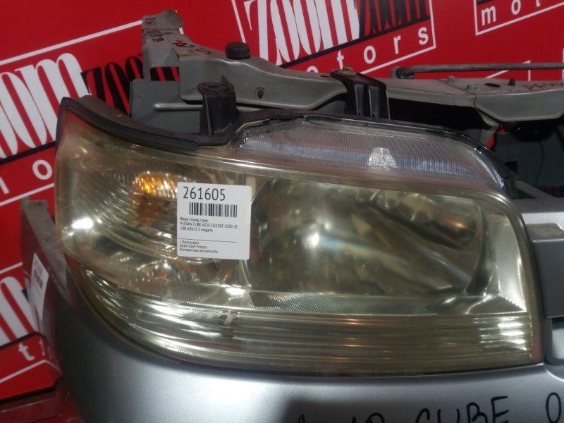 Фара Nissan Cube AZ10 CG13DE 2000 передняя правая 100-63613