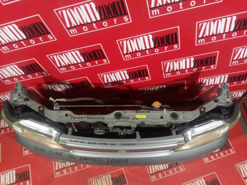 Рамка радиатора Nissan Cube AZ10 CG13DE 2000 передняя серебро