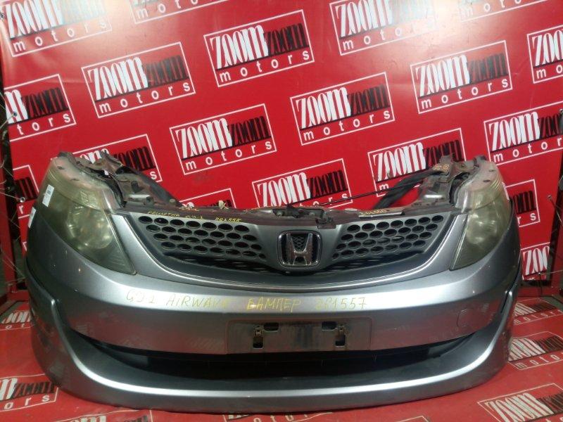 Бампер Honda Airwave GJ1 L15A 2005 передний серебро