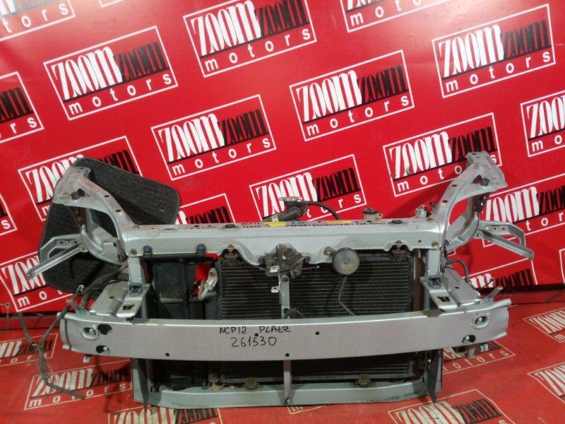 Рамка радиатора Toyota Platz NCP12 1NZ-FE 1999 передняя серебро