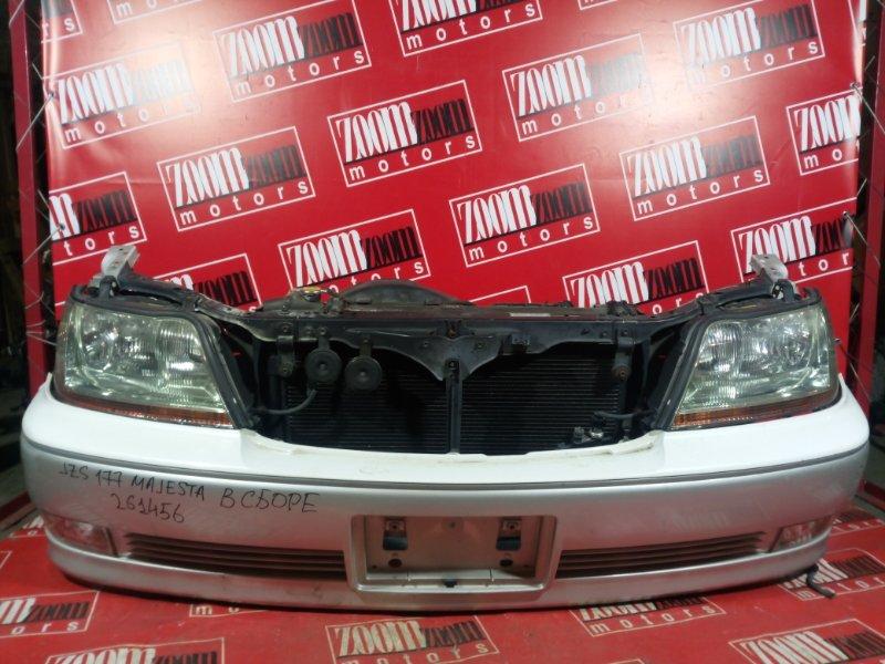 Nose cut Toyota Crown Majesta JZS177 2JZ-FSE 1999 передний белый перламутр