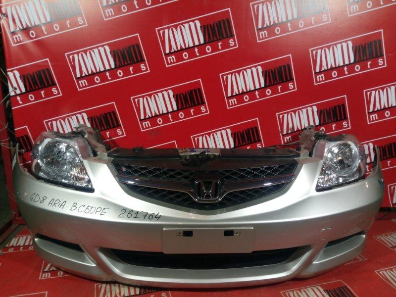 Nose cut Honda Fit Aria GD8 L15A 2005 передний золото