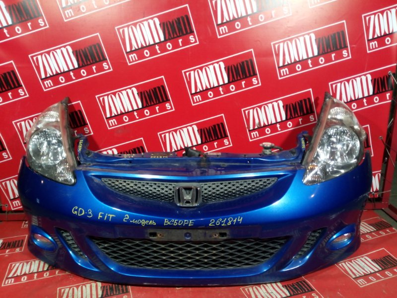 Nose cut Honda Fit GD3 L15A 2004 передний синий