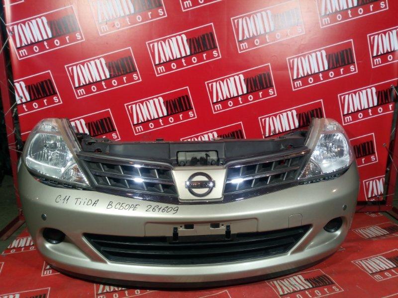 Nose cut Nissan Tiida C11 HR15DE 2008 серо-золотой