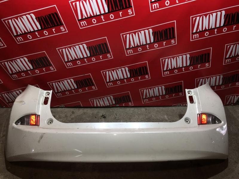Бампер Toyota Ractis NCP120 1NZ-FE 2010 задний белый перламутр