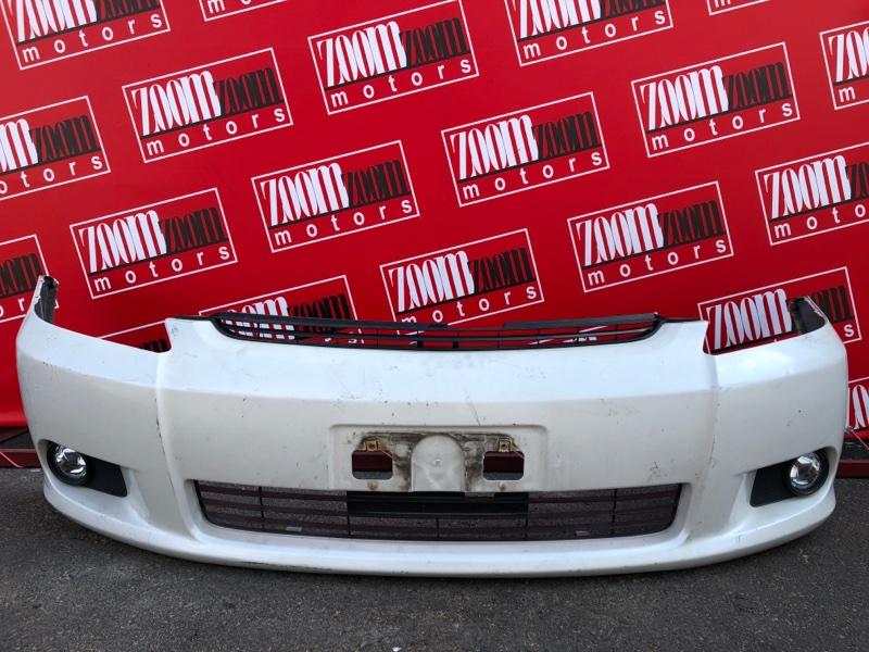 Бампер Toyota Wish ZNE10G 1ZZ-FE 2005 передний белый перламутр
