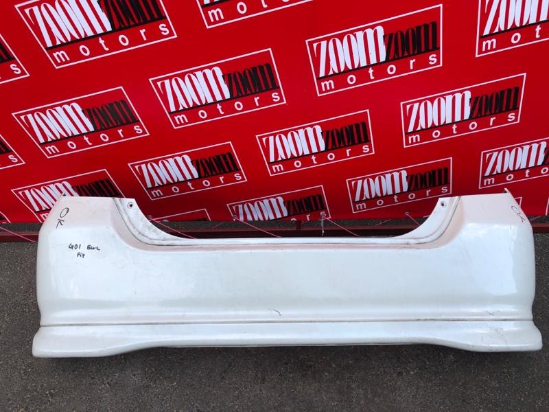 Бампер Honda Fit GD1 L13A 2001 задний белый перламутр