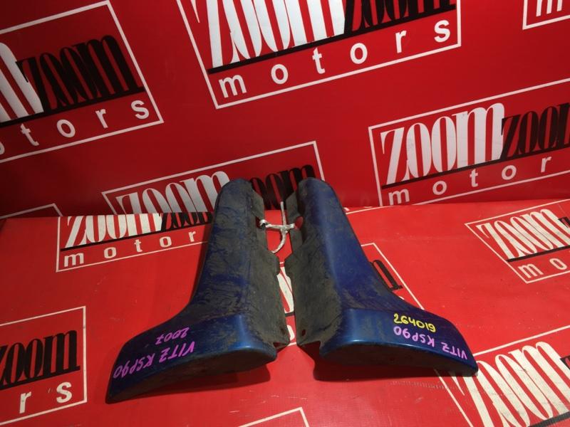 Накладка порога Toyota Vitz KCP90 1KR-FE 2005 синий