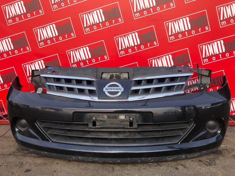 Бампер Nissan Tiida SC11 HR15DE 2004 передний черный
