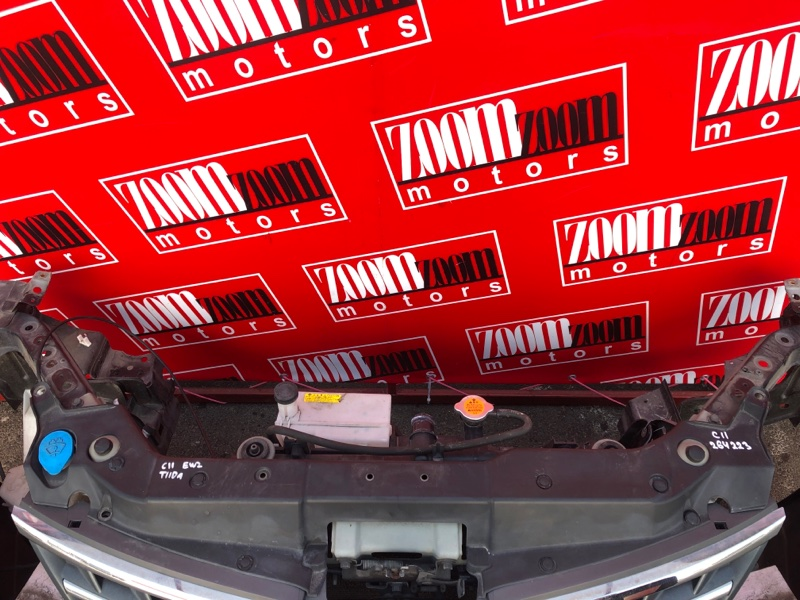 Накладка на решетку радиатора Nissan Tiida SC11 HR15DE 2004