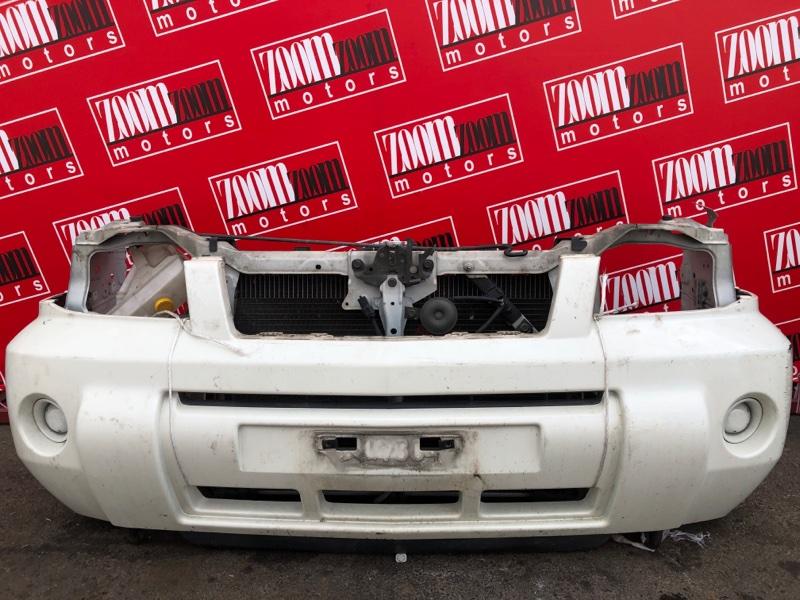 Бампер Nissan X-Trail T30 QR20DE 2003 передний белый перламутр