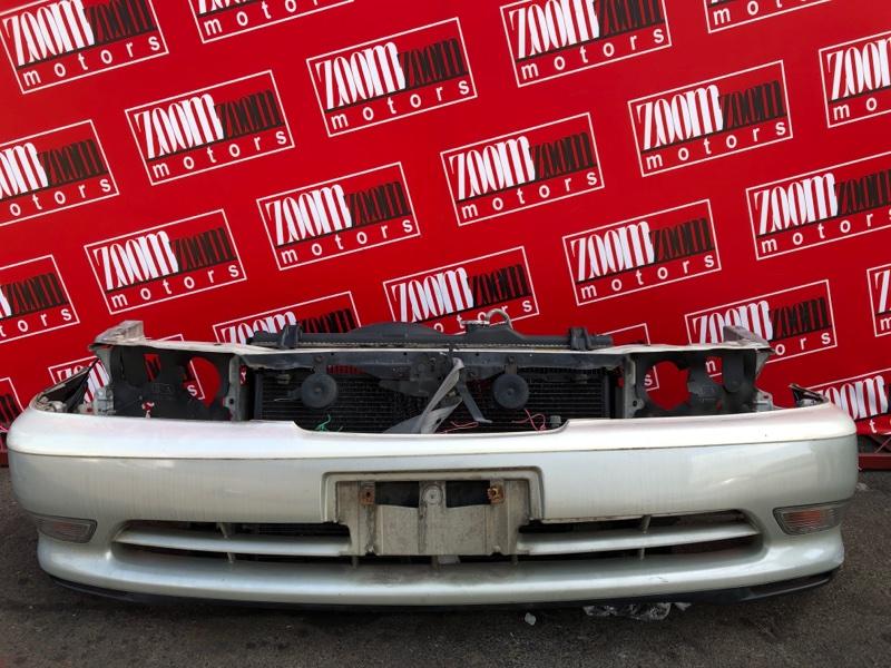 Бампер Toyota Cresta GX100 1G-FE 1996 передний серо-белый