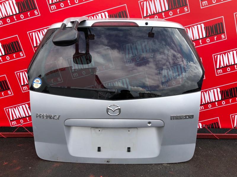 Дверь задняя багажника Mazda Premacy CP8W FP-DE 1999 серебро