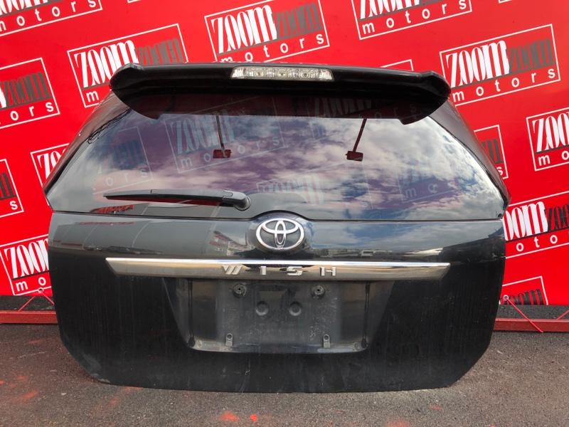 Дверь задняя багажника Toyota Wish ZNE10 1ZZ-FE 2003 черный