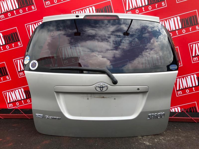 Дверь задняя багажника Toyota Corolla Spacio NZE121 1NZ-FE 2001 серебро
