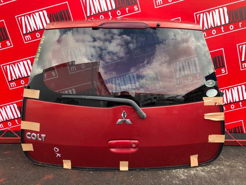 Дверь задняя багажника Mitsubishi Colt Z21A 4A90 2002 красный