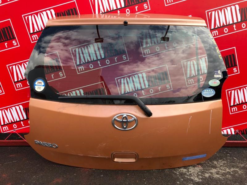 Дверь задняя багажника Toyota Passo KGC30 1KR-FE 2010 коричневый