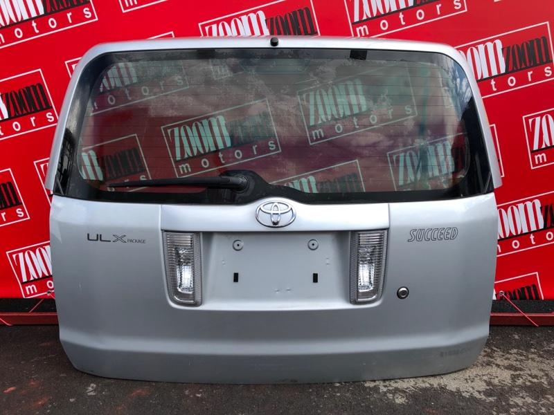 Дверь задняя багажника Toyota Succeed NCP50 2NZ-FE 2002 серебро