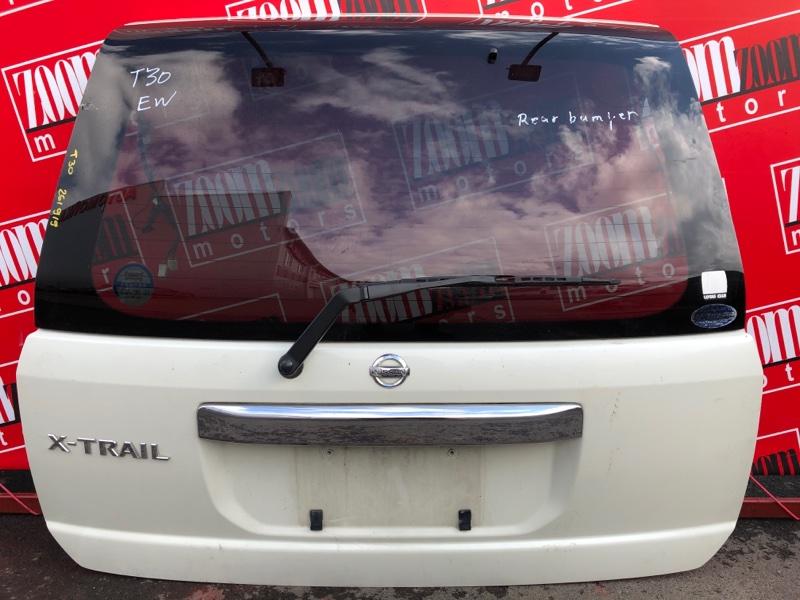 Дверь задняя багажника Nissan X-Trail T30 QR20DE 2000 белый перламутр