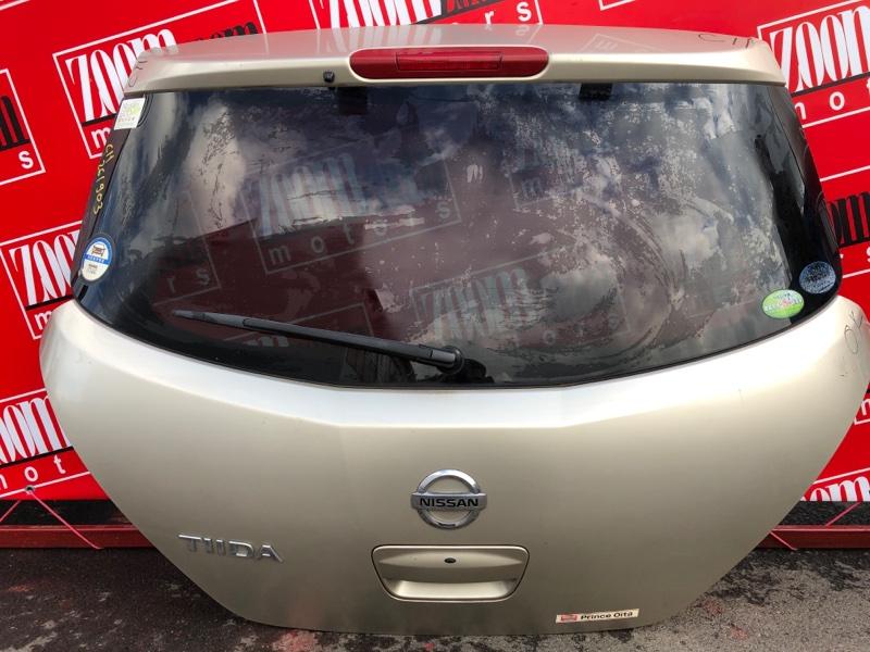 Дверь задняя багажника Nissan Tiida C11 HR15DE 2004 золото