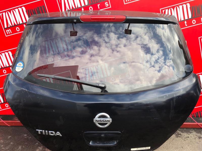 Дверь задняя багажника Nissan Tiida C11 HR15DE 2004 черный