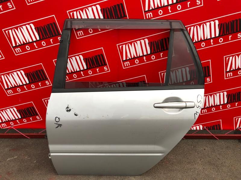 Дверь боковая Mitsubishi Lancer Cedia CS5W 4G93 2000 задняя левая серебро