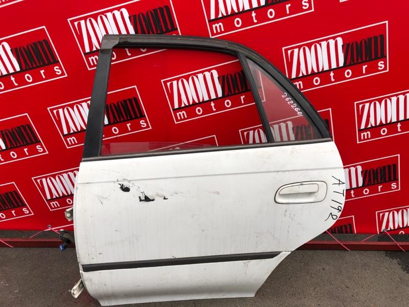 Дверь боковая Toyota Carina AT190 5A-FE 1992 задняя левая белый