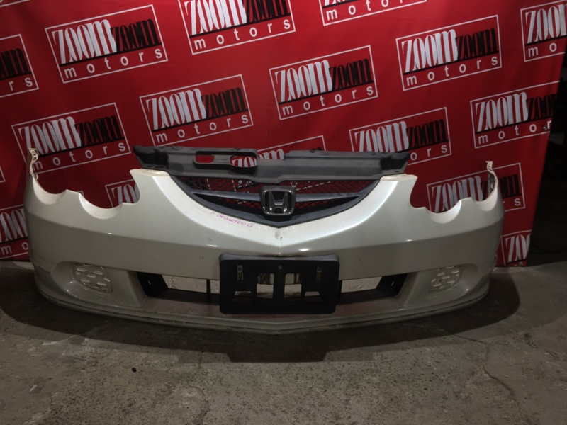 Бампер Honda Integra DC5 K20A 2001 передний белый перламутр