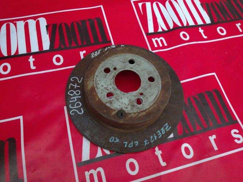 Диск тормозной Toyota Will Vs ZZE127 1ZZ-FE 1998 задний