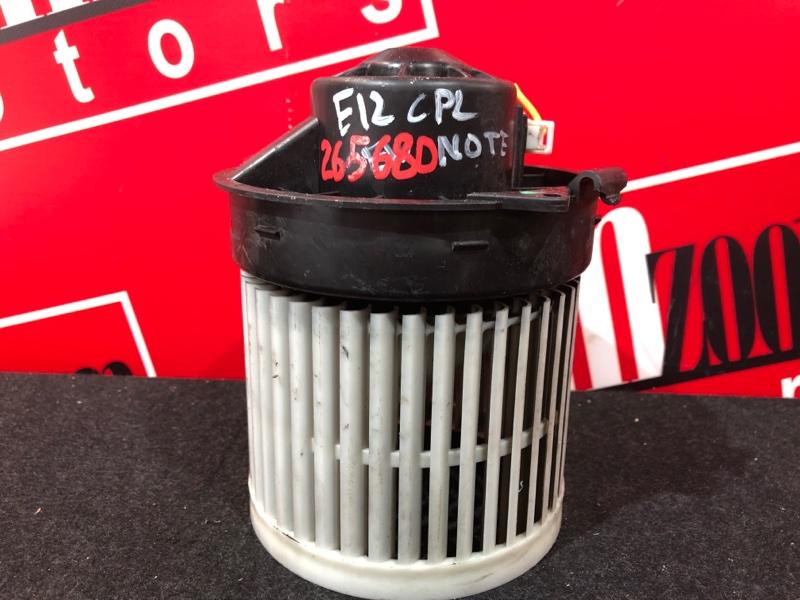 Вентилятор (мотор отопителя) Nissan Note E12 HR12DDR 2012