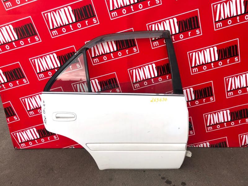 Дверь боковая Toyota Carina AT211 7A-FE 1998 задняя правая белый