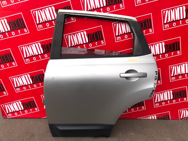 Дверь боковая Nissan Dualis J10 MR20DE 2007 задняя левая серебро