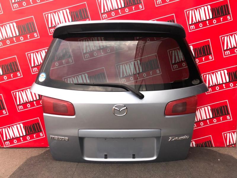Дверь задняя багажника Mazda Demio DY3W ZJ-VE 2002 голубой
