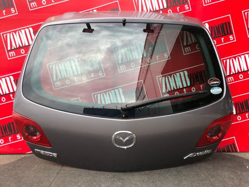 Дверь задняя багажника Mazda Axela BKEP LF-DE 2003 серый